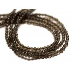 30pc - Perles de Pierre - Quartz Fumé Boules 2mm - 8741140014503