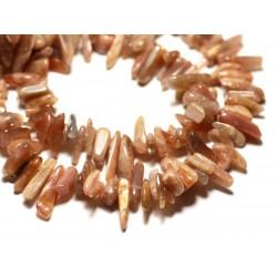 20pc - Perles de Pierre - Pierre de Soleil Rocailles Chips Batonnets 8-20mm - 8741140014725