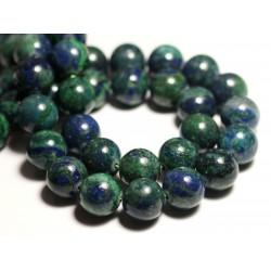 2pc - Perle de Pierre - Chrysocolle Boule 14mm - 4558550012289