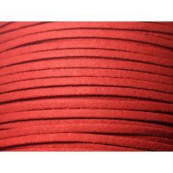 5 mètres - Cordon Lanière Suédine 3mm Rouge foncé - 8741140010772