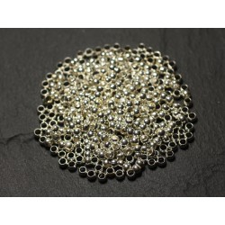 500pc environ - Apprêts Perles à écraser Métal Argenté 3mm - 8741140010703