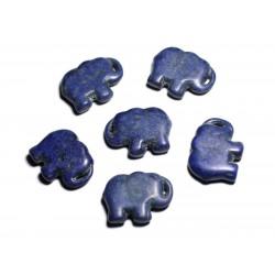 1pc - Grande Perle Pendentif en Pierre Turquoise synthèse - Elephant 40mm Bleu nuit - 4558550087911