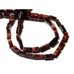 10pc - Perles de Pierre - Oeil de Taureau Rectangles Cubes 6-11mm - 8741140011960