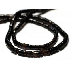 20pc - Perles de Pierre - Quartz Fumé Rondelles Heishi 4-5mm - 8741140012066