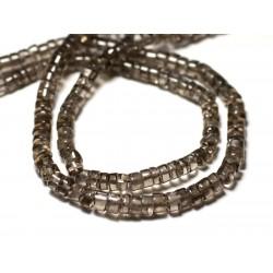 20pc - Perles de Pierre - Quartz Fumé clair Rondelles Heishi 4-5mm - 8741140012073