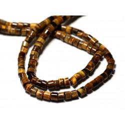 20pc - Perles de Pierre - Oeil de Tigre Rondelles Heishi 5mm - 8741140012042