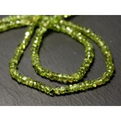 20pc - Perles de Pierre - Péridot Rondelles Heishi 3-5mm - 8741140012059