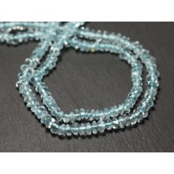 20pc - Perles de Pierre - Aigue Marine Rondelles Boulier 4-5mm - 8741140012097