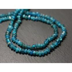 20pc - Perles de Pierre - Apatite bleu vert Rondelles Boulier 3-5mm - 8741140012127