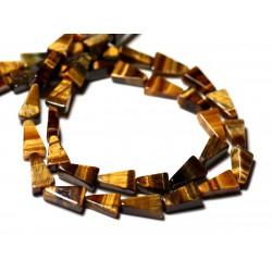 10pc - Perles de Pierre - Oeil de Tigre Triangles 8-11mm - 8741140012233