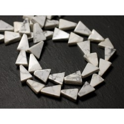 10pc - Perles de Pierre - Howlite Triangles 9-12mm - 8741140012196