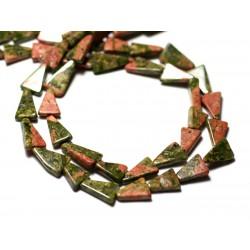 10pc - Perles de Pierre - Unakite Triangles 7-10mm - 8741140012264