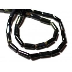 10pc - Perles de Pierre - Oeil de Faucon - Tigre Bleu Tubes 8-13mm - 8741140012325