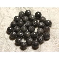 10pc - Perles de Pierre - Jade Boules 10mm Gris Souris - 4558550014009