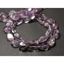 10pc - Perles de Pierre - Améthyste Lavande Olives 9-15mm - 8741140011595