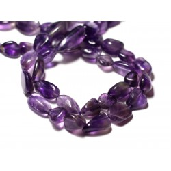 10pc - Perles de Pierre - Améthyste Olives 7-14mm - 8741140011588