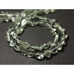 10pc - Perles de Pierre - Améthyste verte Prasiolite Olives 7-13mm - 8741140011601
