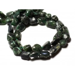10pc - Perles de Pierre - Emeraude Olives 7-13mm - 8741140011649