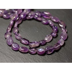 10pc - Perles de Pierre - Améthyste Lavande Olives Ovales 7-10mm - 8741140011700