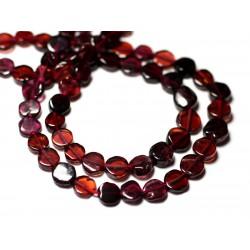 10pc - Perles de Pierre - Grenat Palets 5-6mm - 8741140011847