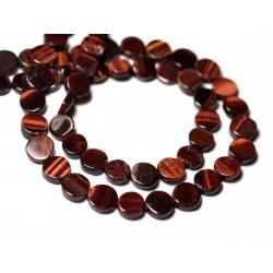 10pc - Perles de Pierre - Oeil de Taureau Palets 6-7mm - 8741140011861