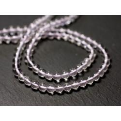 20pc - Perles de Pierre - Améthyste Lavande Boules 4mm - 8741140011427
