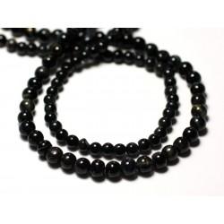 20pc - Perles de Pierre - Oeil de Faucon Boules 3-4mm - 8741140011489
