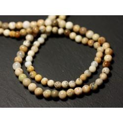 20pc - Perles de Pierre - Opale dendritique Boules 3-4mm - 8741140011496