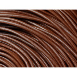 Echeveau 90 mètres - Fil Cordon Cuir Véritable 3mm Marron Chocolat - 8741140011328