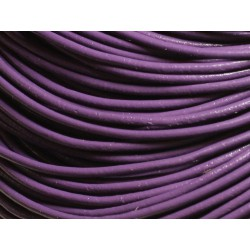 Echeveau 90 mètres - Fil Cordon Cuir Véritable 2mm Violet - 8741140011311