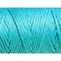 Bobine 20 mètres - Cordon Ficelle Chanvre 1.5mm Bleu Vert Turquoise - 8741140011045