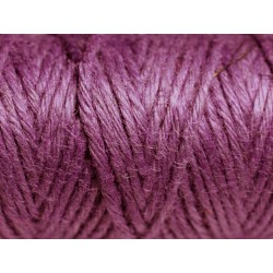 Bobine 20 mètres - Cordon Ficelle Chanvre 1.5mm Violet - 8741140011069