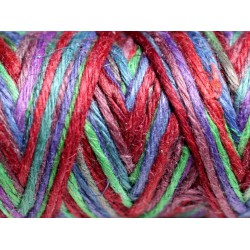 Bobine 20 mètres - Cordon Ficelle Chanvre 1.5mm Multicolore Bleu Violet Vert Rouge - 8741140011120