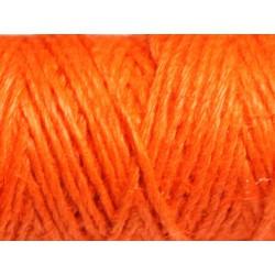 Bobine 20 mètres - Cordon Ficelle Chanvre 1.5mm Orange - 8741140011137