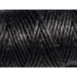 Bobine 20 mètres - Cordon Ficelle Chanvre 1.5mm Noir - 8741140011168