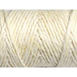 Bobine 20 mètres - Cordon Ficelle Chanvre 1.5mm Blanc crème - 8741140011175