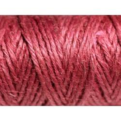Bobine 20 mètres - Cordon Ficelle Chanvre 1.5mm Rouge Bordeaux Prune - 8741140011182