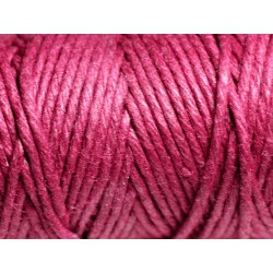 Bobine 20 mètres - Cordon Ficelle Chanvre 1.5mm Violet Rose Magenta - 8741140011205