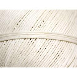 Bobine 85 mètres - Cordon Ficelle Lin 1mm Blanc crème - 8741140010840