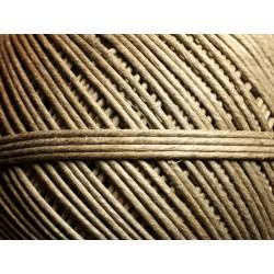Bobine 120 mètres - Cordon Ficelle Lin 1.5-2mm Beige Ecru - 8741140010871