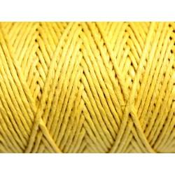 Bobine 90 mètres - Cordon Ficelle Chanvre 1.2mm Jaune - 8741140010925
