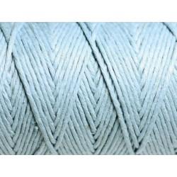 Bobine 90 mètres - Cordon Ficelle Chanvre 1.2mm Bleu clair - 8741140010949
