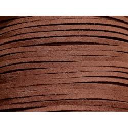 5 mètres - Cordon Lanière Suédine 3mm Marron Chocolat - 8741140010789
