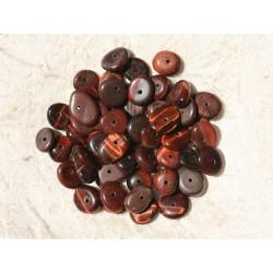 20pc - Perles de Pierre - Oeil de Taureau Chips Palets Rondelles 8-13mm 4558550017659