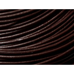 5m - Cordon Cuir Marron Brun Café 2mm - 4558550030870