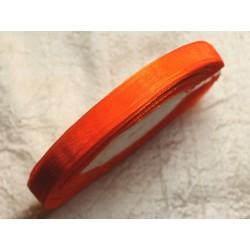 1pc - Bobine 45 mètres - Ruban Tissu Organza Orange 10mm 4558550009876