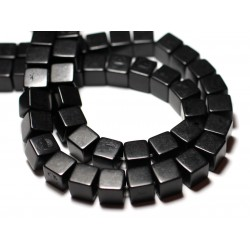 20pc - Perles Turquoise Synthèse reconstituée Cubes 8mm Noir - 8741140009172