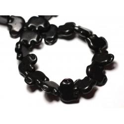 10pc - Perles Turquoise Synthèse reconstituée Elephant 19mm Noir - 8741140009271