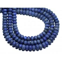 10pc - Perles de Pierre - Lapis Lazuli Mat Givré Rondelles 6x4mm - 8741140007833