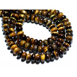 10pc - Perles de Pierre - Oeil de Tigre Rondelles 8x5mm - 8741140007871